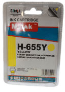 Картридж 655 Yellow для HP Deskjet Ink Advantage 4615, 4625, 3525, 5525, CZ112AE, 14,6 ml, MyInk