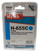 Картридж 655 Cyan для HP Deskjet Ink Advantage 4615, 4625, 3525, 5525, CZ110AE, 14,6 ml, MyInk