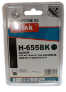 Картридж 655 Black для HP Deskjet Ink Advantage 4615, 4625, 3525, 5525, CZ109AE, 21,6 ml, MyInk