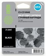 Картридж 655 Black для HP Deskjet Ink Advantage 4615, 4625, 3525, 5525, CZ109AE, 21,6 ml, Cactus