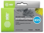 Картридж 655 Yellow для HP Deskjet Ink Advantage 4615, 4625, 3525, 5525, CZ112AE, 14,6 ml, Cactus